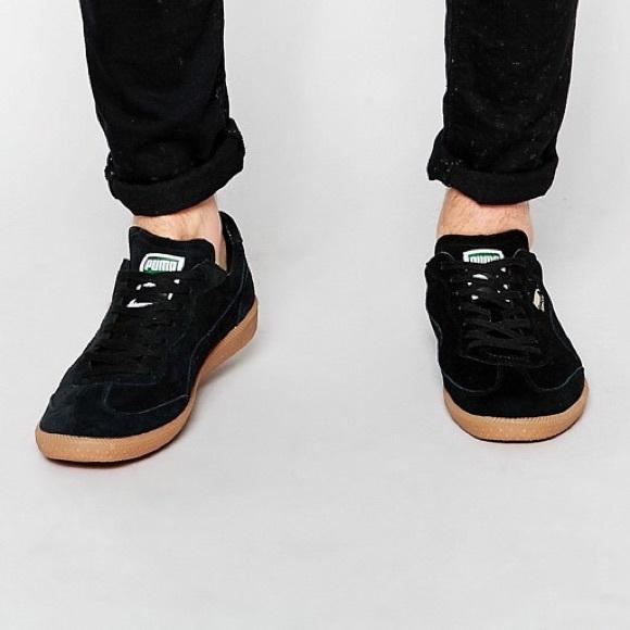 d5233c08ef0a Puma Super Liga Black Suede Sneakers Unisex. M 5c6b4f486a0bb75297210bdc